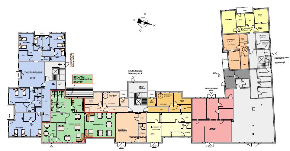 Seniorenwohnanlage Oschersleben - Wohnungen im Erdgeschoss