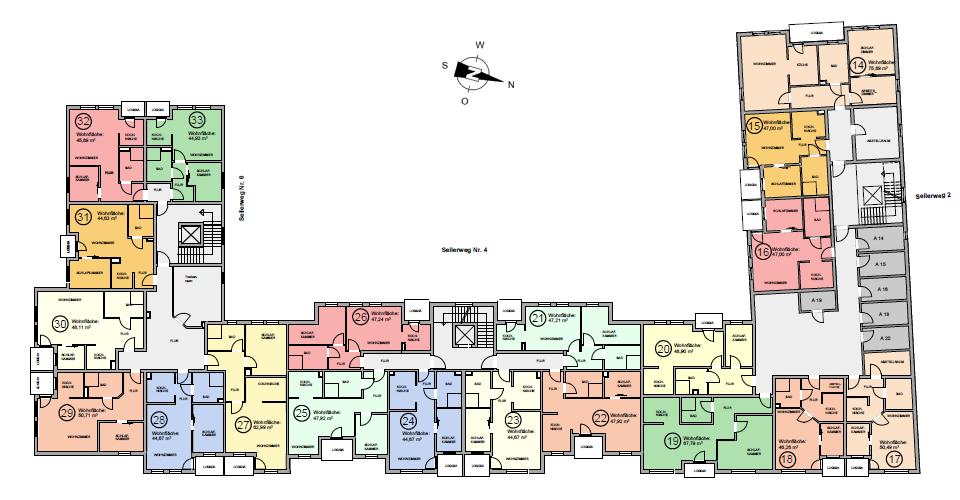 Seniorenwohnanlage Oschersleben - Wohnungen im Obergeschoss